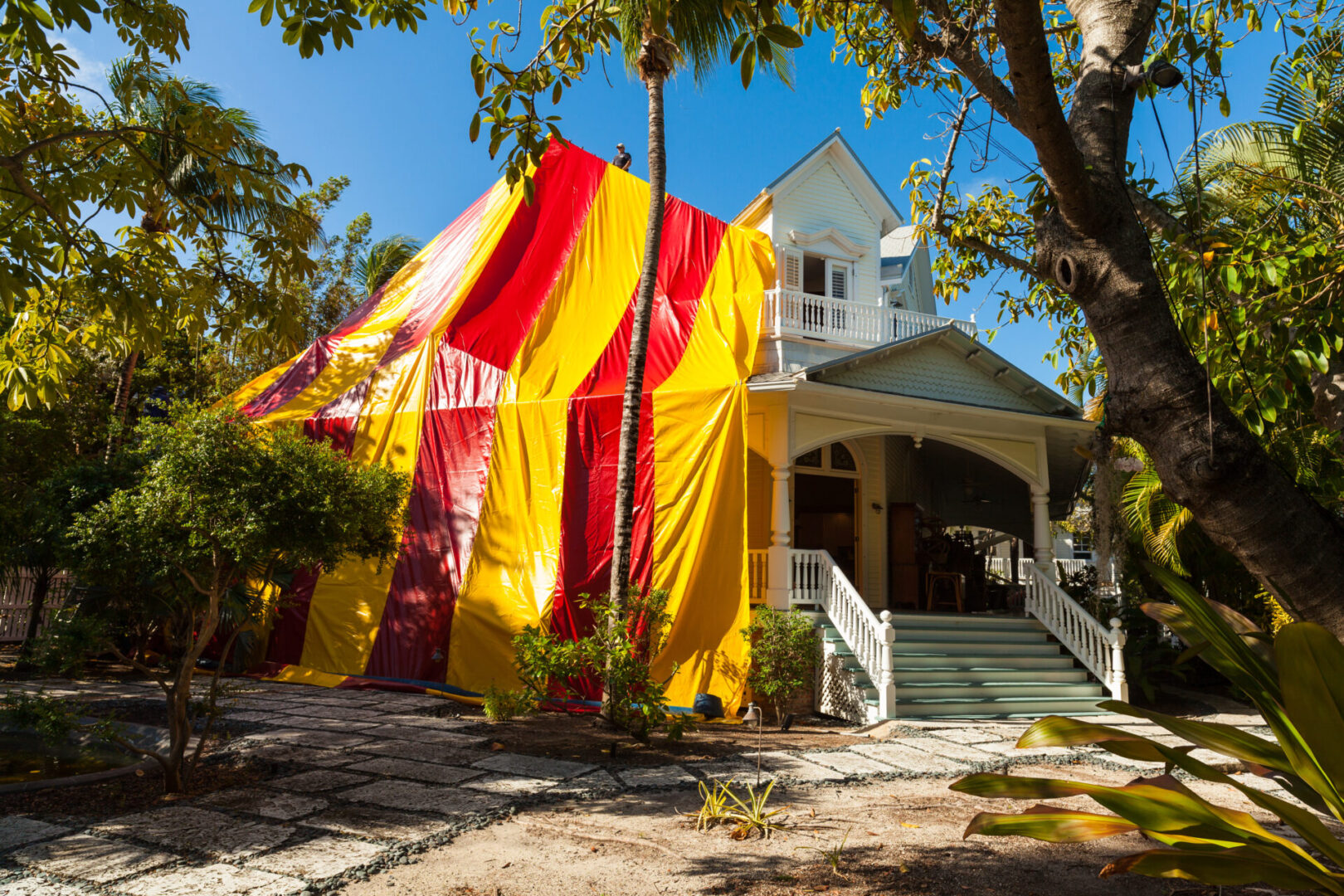 Vintage Home Tented for Termite Treatment